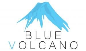 Blue Volcano logo corflute 250x150